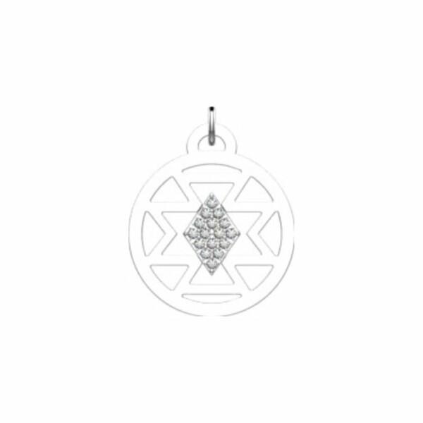 Pendentif Les Georgettes Les Précieuses Sioux argenté, 16mm