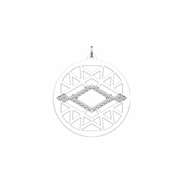Pendentif Les Georgettes Les Précieuses Sioux argenté, 25mm