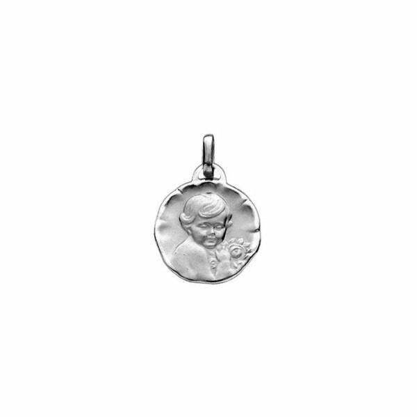 Médaille chérubin en or blanc