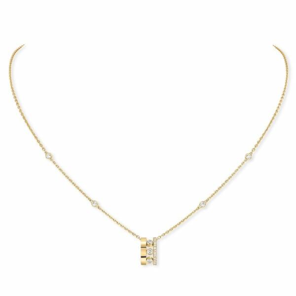 Pendentif sur Chaîne Messika Move Romane en or jaune et diamants