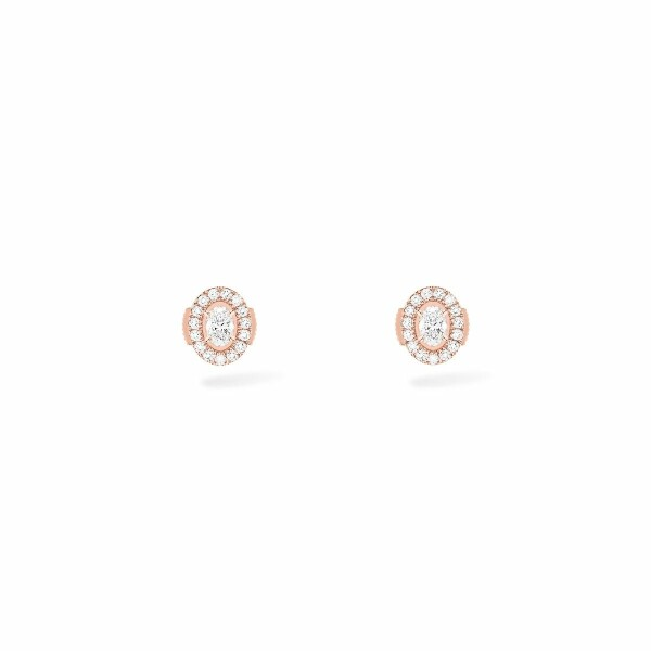 Boucles d'oreilles Messika Glam'Azone en or rose et diamants