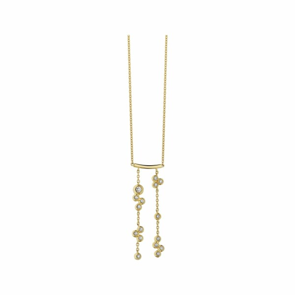 Collier Garden Party Ivresse en or jaune et diamants