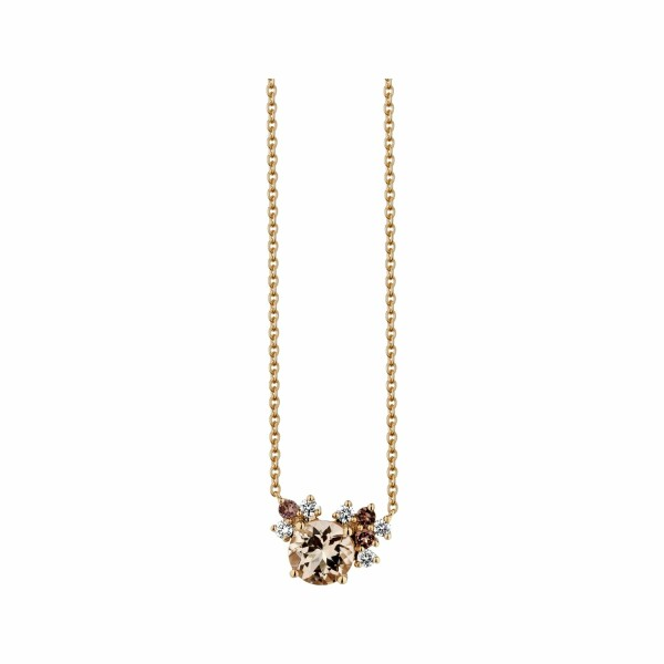 Collier Garden Party Rendez-vous en or rose, morganite, tourmalines et diamants