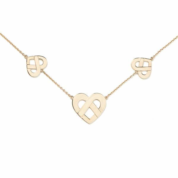 Collier Poiray Coeur Entrelacé en or jaune