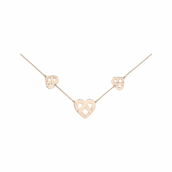 Collier Poiray Coeur Entrelacé en or rose