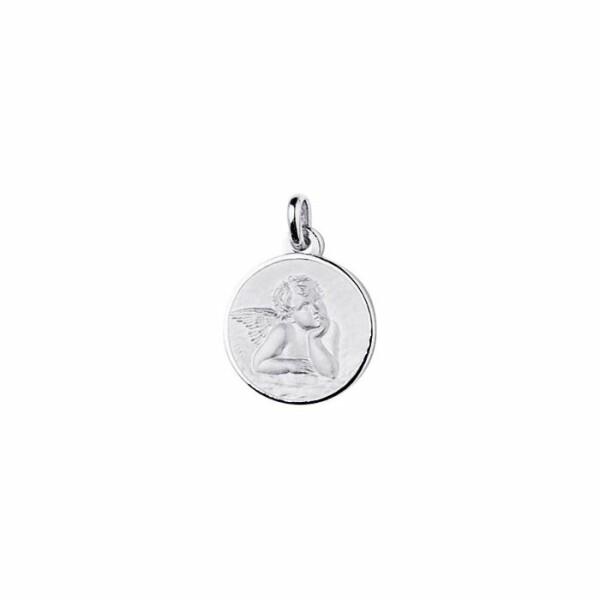 Médaille ange Raphael en or blanc