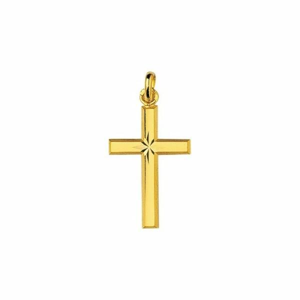 Pendentif croix en or jaune