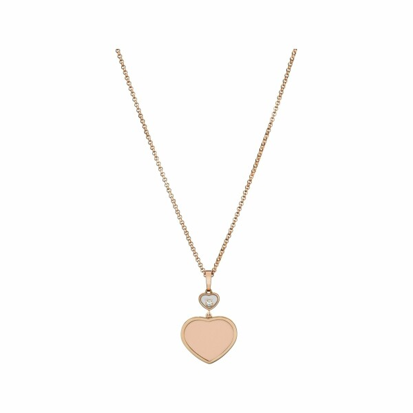 Pendentif Chopard Happy Hearts en or rose et diamant
