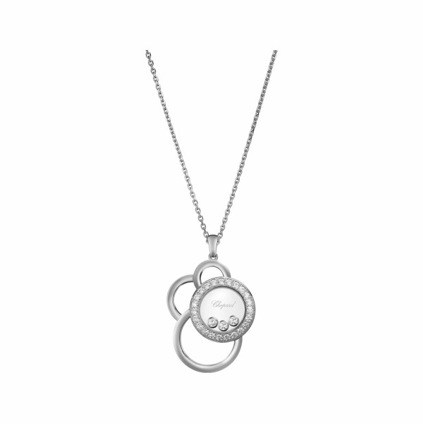 Pendentif Chopard Happy Dreams en or blanc et diamants
