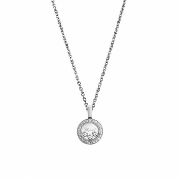 Pendentif Chopard Happy Diamonds Icons en or blanc et diamants
