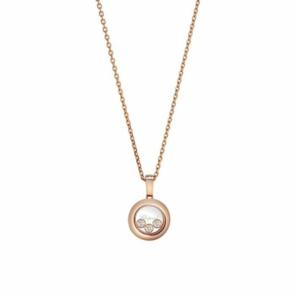 Pendentif Chopard Happy Diamonds Icons en or rose et diamants