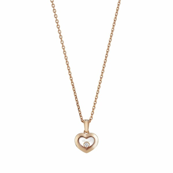 Pendentif Chopard Happy Diamonds Icons en or rose et diamant