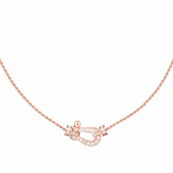 Collier moyen modèle FRED Force 10 en or rose et diamants