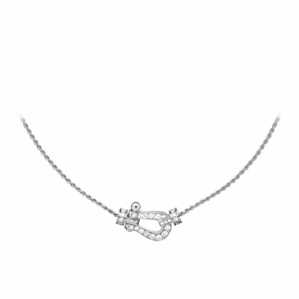 Collier FRED Force 10 moyen modèle en Or blanc et Diamant
