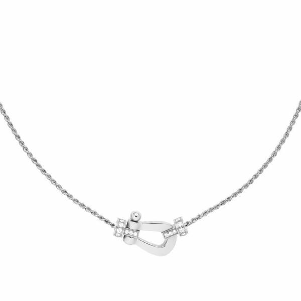 Collier moyen modèle FRED Force 10 en or blanc et diamants