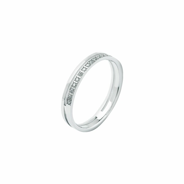 Alliance en or blanc et diamants de 0.10ct