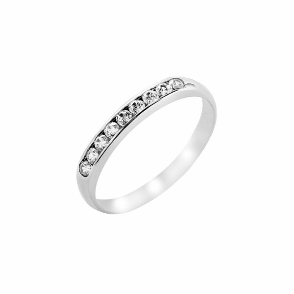 Alliance en or blanc et diamants de 0.20ct