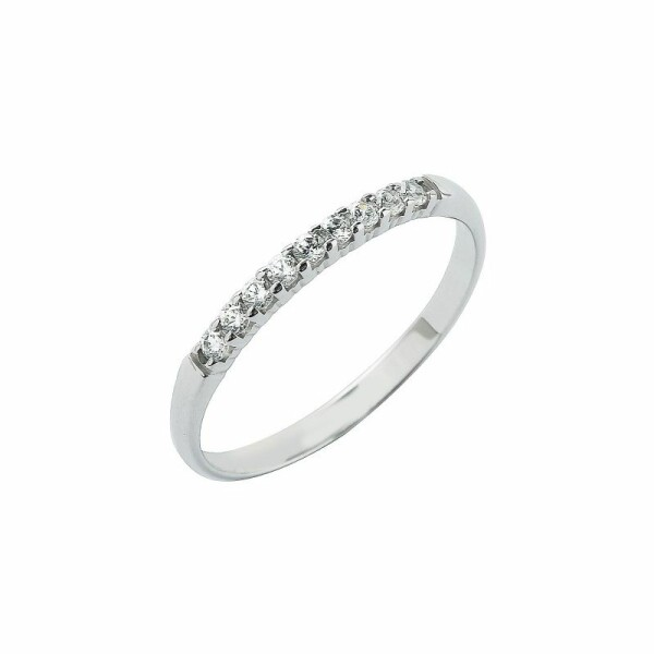 Alliance en or blanc et diamants de 0.15ct