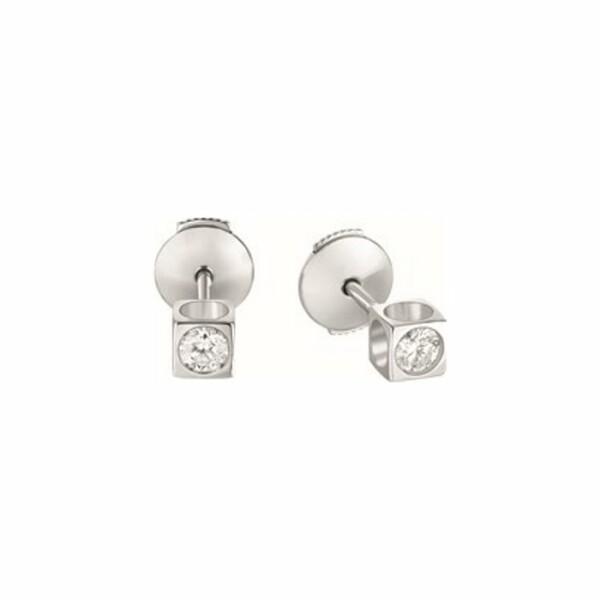 Boucles d'oreilles dinh van Le Cube Diamant en Or blanc et Diamant