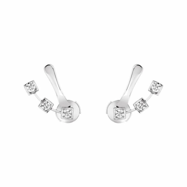 Boucles d'oreilles dinh van Le Cube diamant en or blanc et diamants
