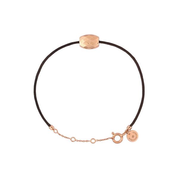 Bracelet sur cordon Morganne Bello Friandise Petite en or rose