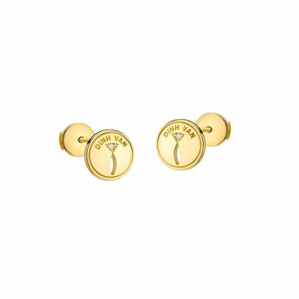 Boucles d'oreilles dinh van Punaise en Or jaune et Diamant