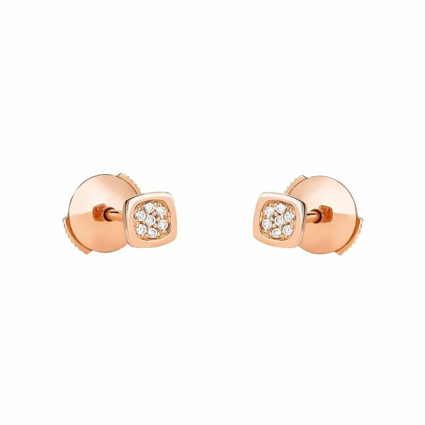 Boucles d'oreilles dinh van Impression Domino en Or rose et Diamant