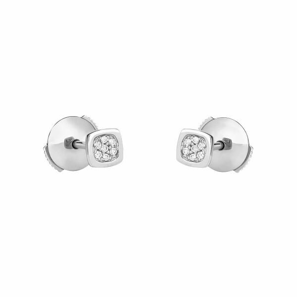 Boucles d'oreilles dinh van Impression Domino en Or blanc et Diamant