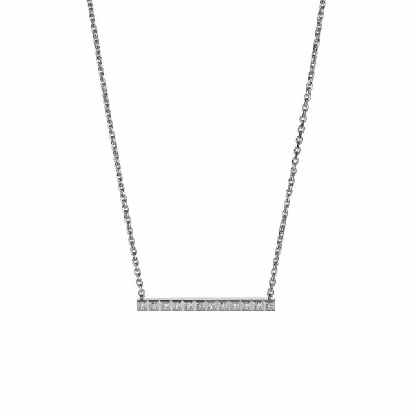 Collier Chopard Ice Cube en or blanc et diamants