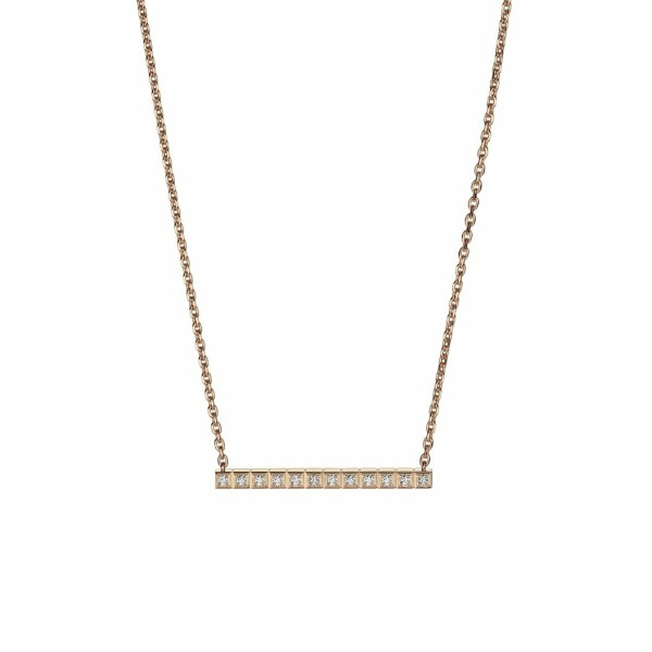 Collier Chopard Ice Cube en or rose et diamants