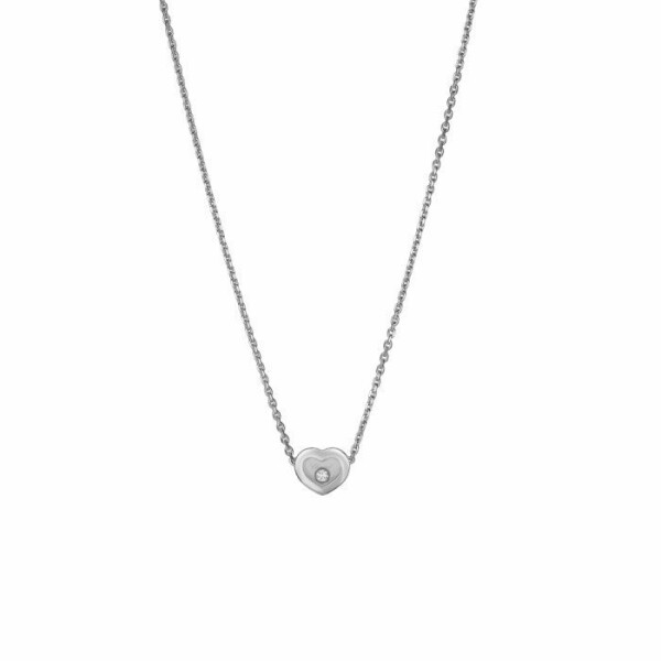 Collier Chopard Happy Diamonds Icons en or blanc et diamant