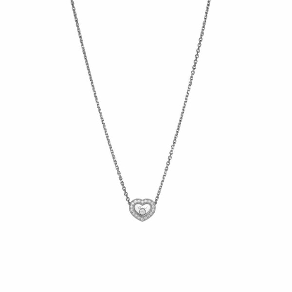 Collier Chopard Happy Diamonds Icons en or blanc et diamants