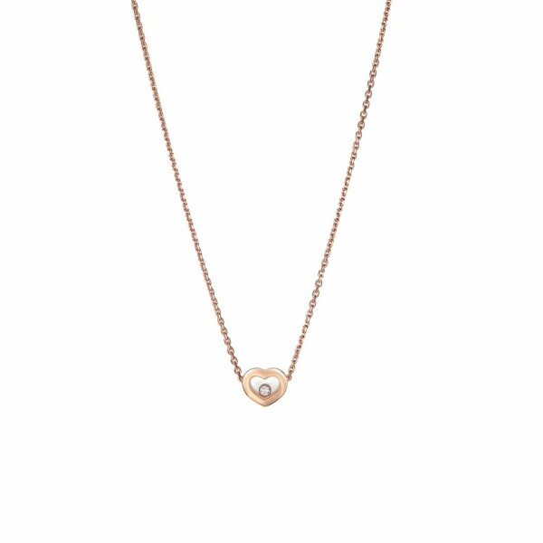 Collier Chopard Happy Diamonds Icons en or rose et diamants