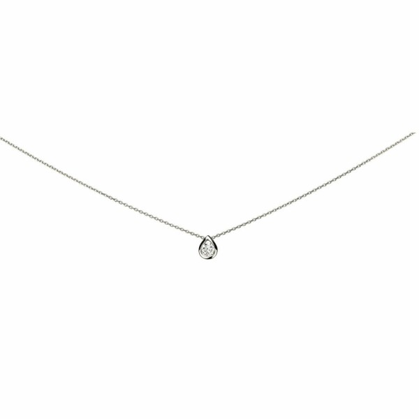 Collier en or blanc et diamants de 0.10ct