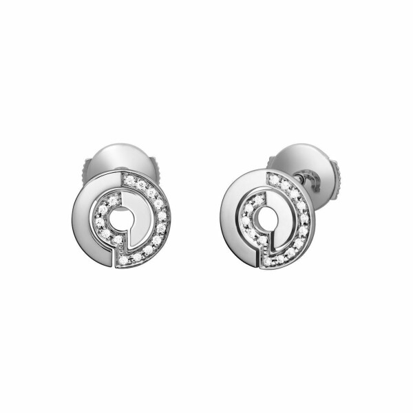 Boucles d'oreilles dinh van Seventies en or blanc et diamants