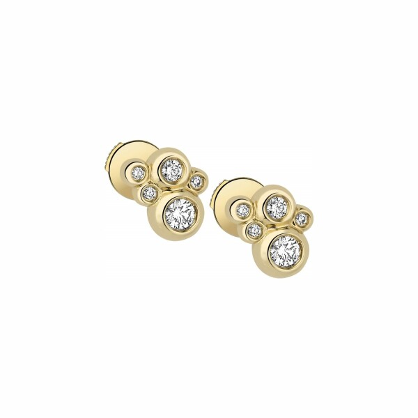 Boucles d'oreilles Garden Party Ivresse en or jaune et diamants