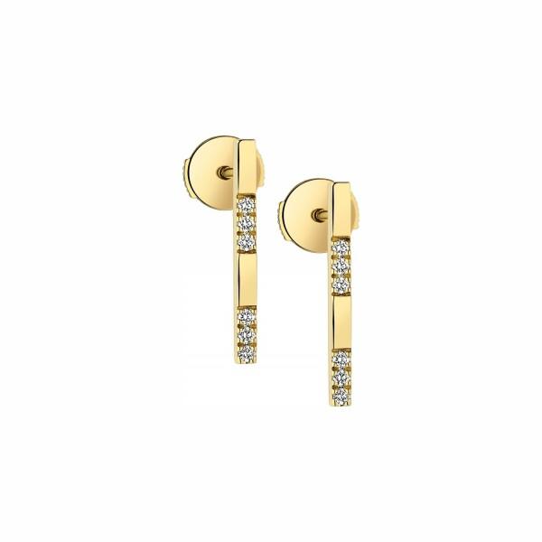 Boucles d'oreilles Garden Party Éclat en or jaune et diamants
