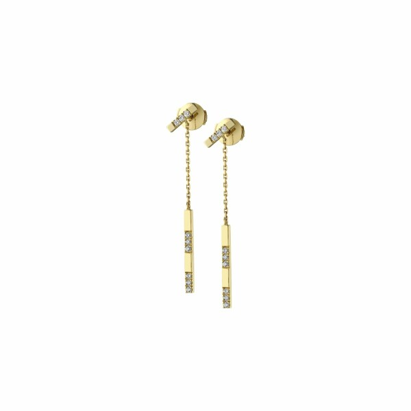 Boucles d'oreilles Garden Party Éclat en or jaune et diamants