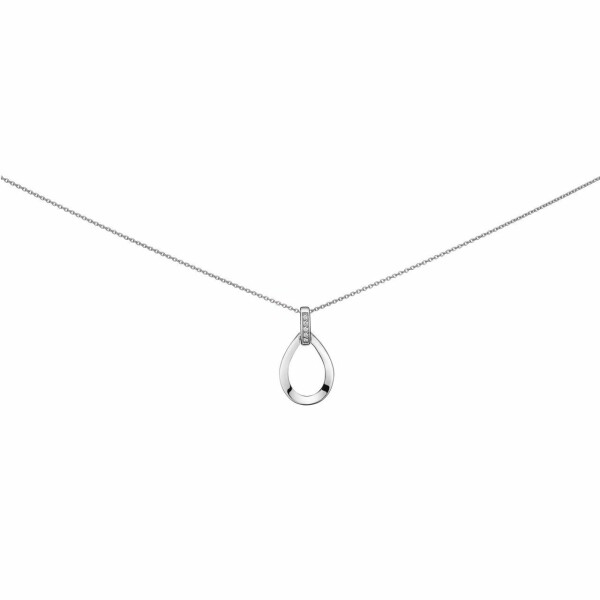 Collier en or blanc et diamants de 0.04ct