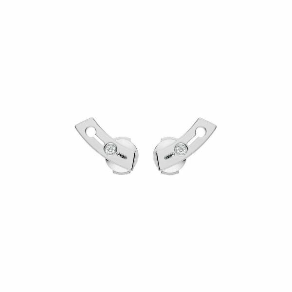 Boucles d'oreilles dinh van Pulse dinh van petit modèle en or blanc et diamants