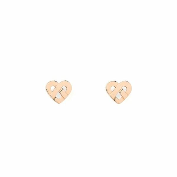 Boucles d'oreilles Poiray Coeur Entrelacé  en or rose