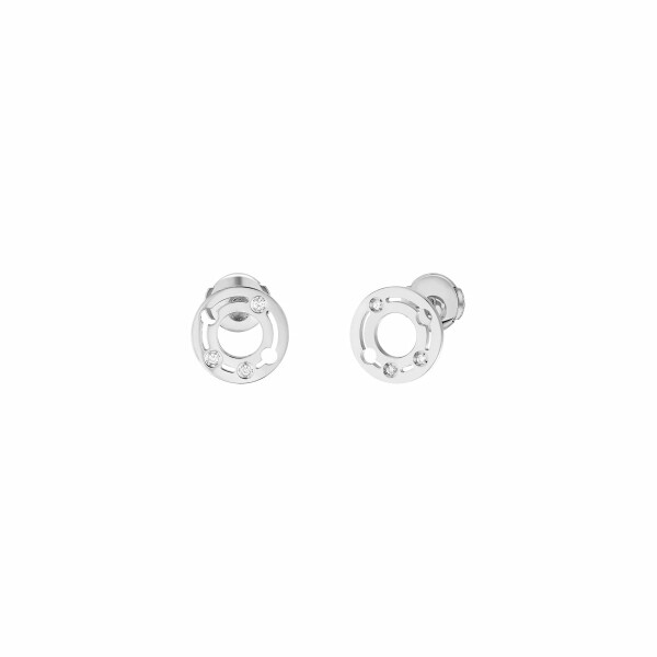 Boucles d'oreilles dinh van Pulse dinh van en or blanc et diamants