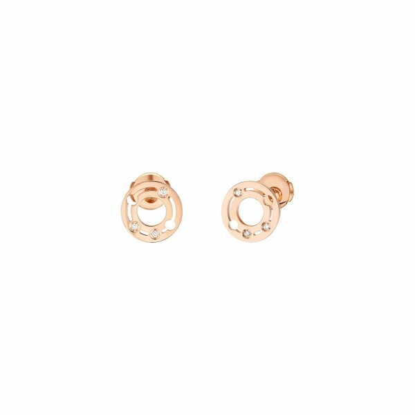 Boucles d'oreilles dinh van Pulse dinh van en or rose et diamants