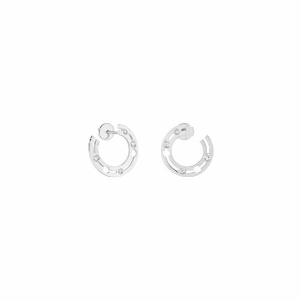 Boucles d'oreilles créoles dinh van Pulse dinh van en or blanc et diamants
