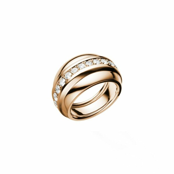 Bague Chopard La Strada en or rose et diamants