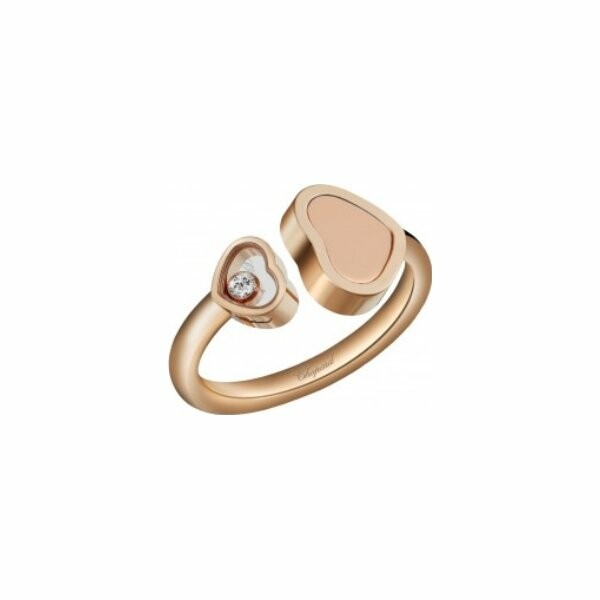 Bague Chopard Happy Hearts en or rose et diamants