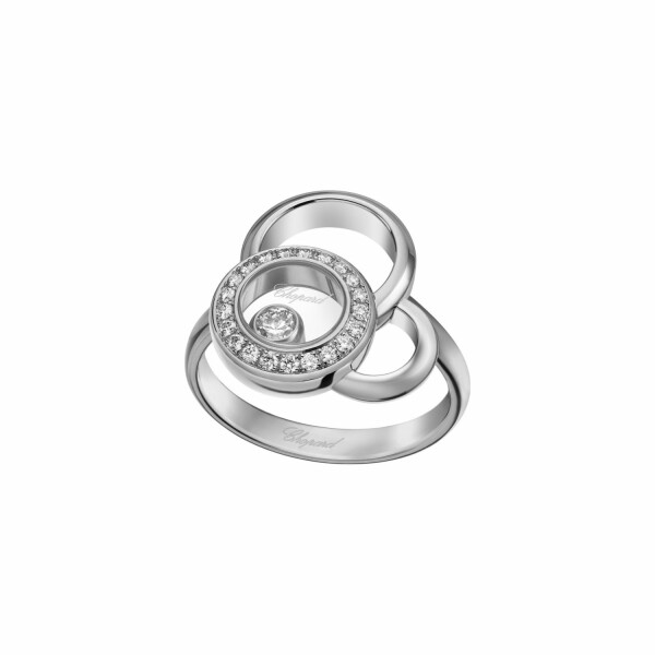 Bague Chopard Happy Dreams en or blanc et diamants