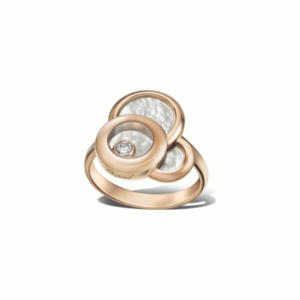 Bague Chopard Happy Dreams en or rose et diamant