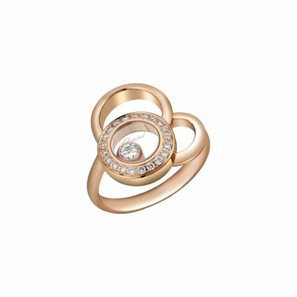 Bague Chopard Happy Dreams en or rose et diamants