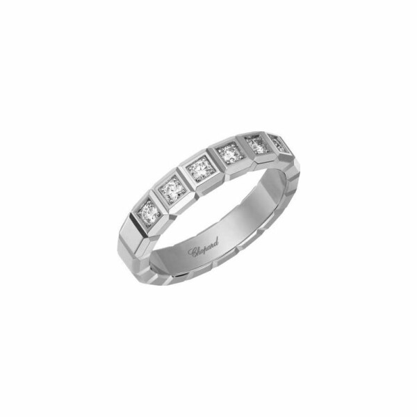 Bague Chopard Ice Cube en or blanc et diamants